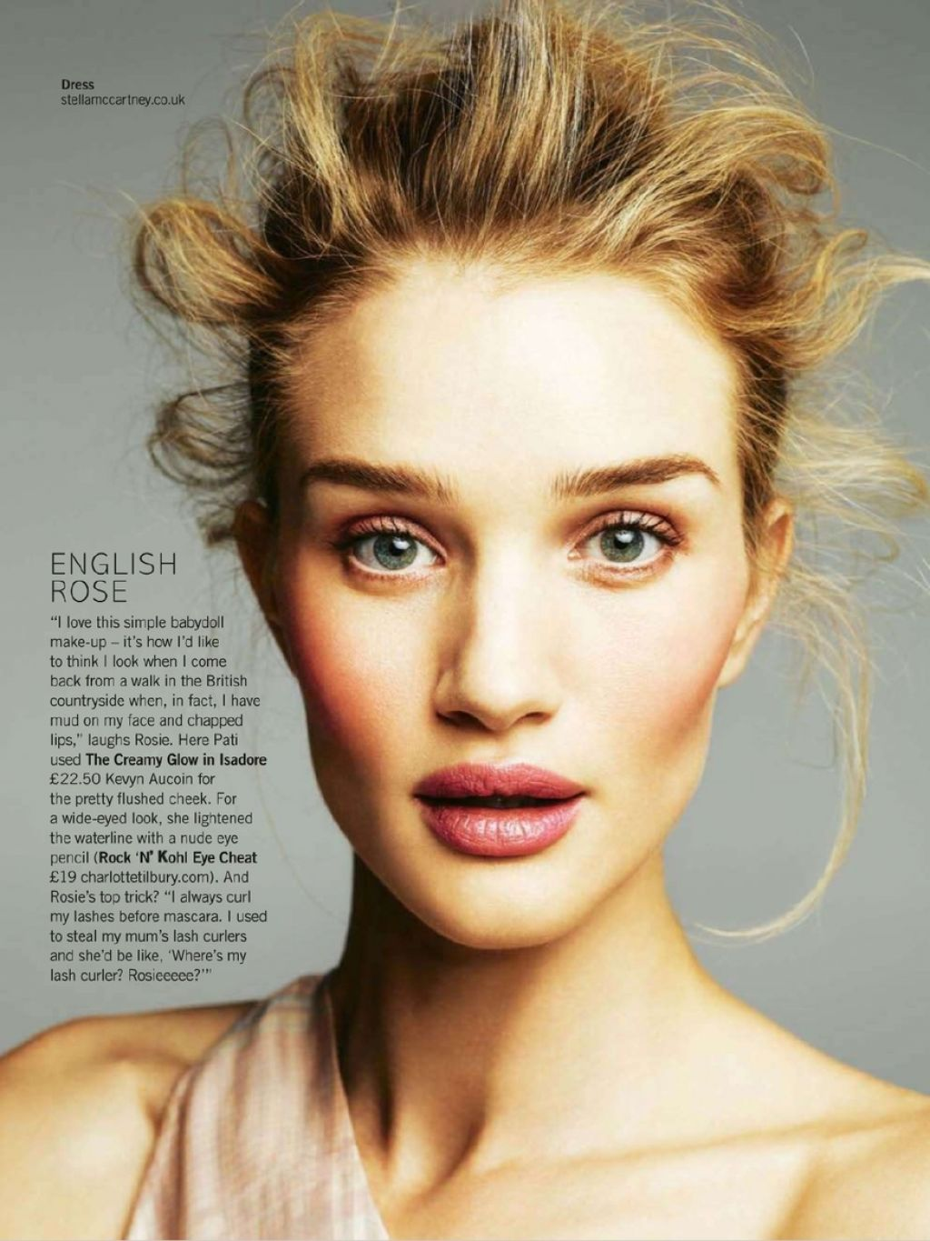 Rosie Huntington Whiteley Glamour Magazine Uk March