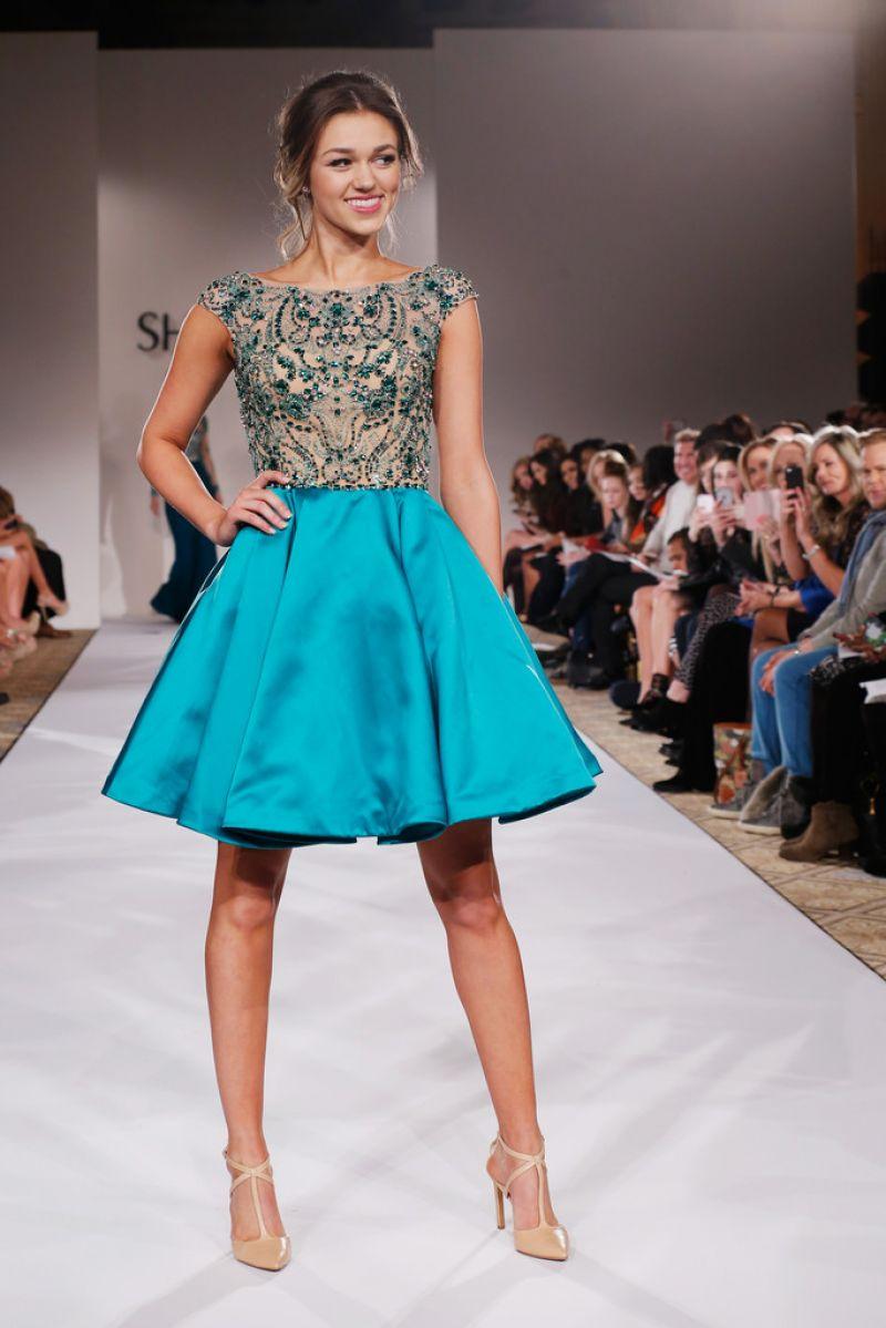 Sadie Robertson Models Modest Dresses at Sherri Hill New