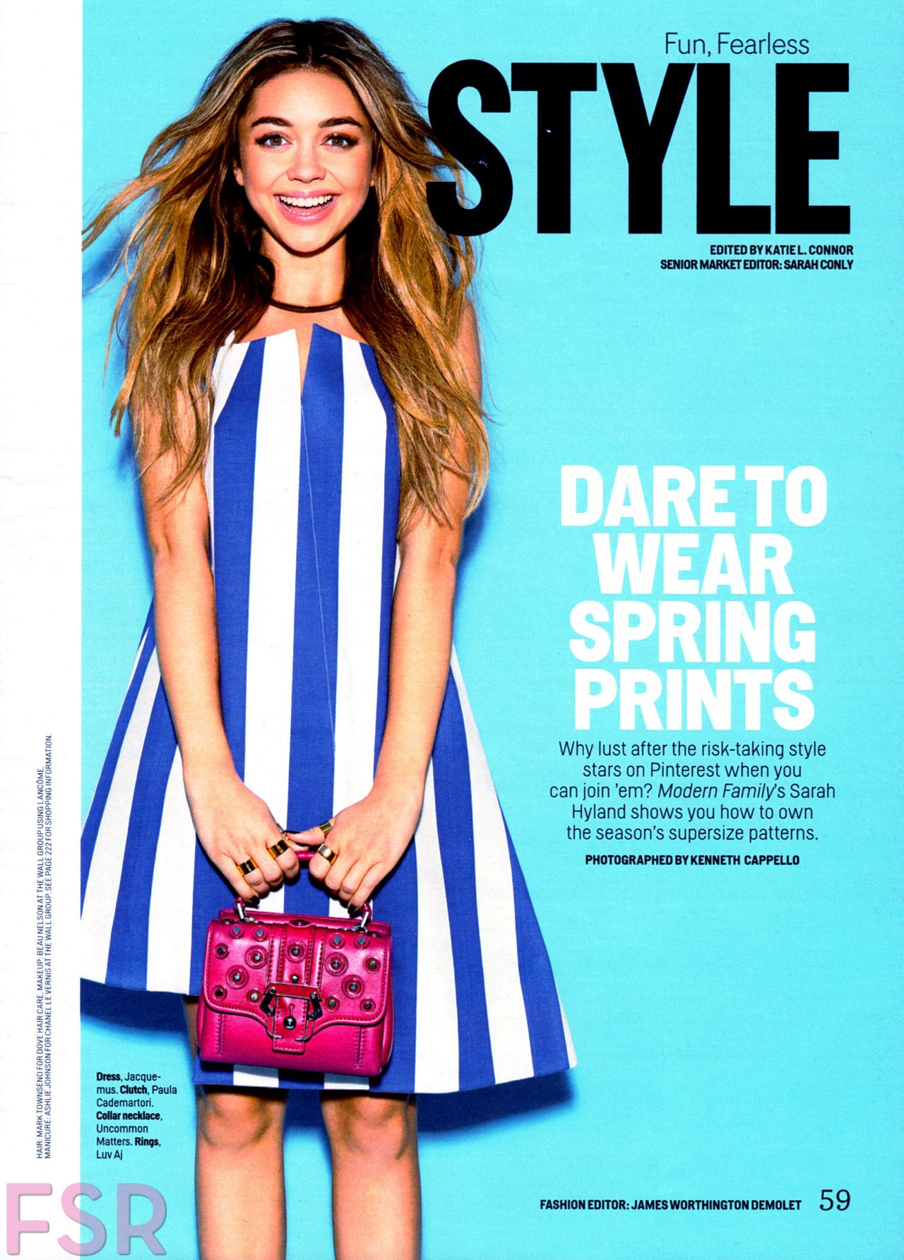 Sarah Hyland - Cosmopolitan Magazine March 2015 Issue