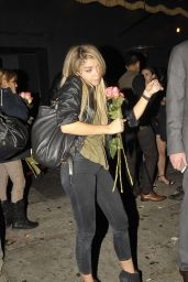 Sarah Hyland Night Out Style - Outside Warwick Nightclub in Hollywood, Jan 2015