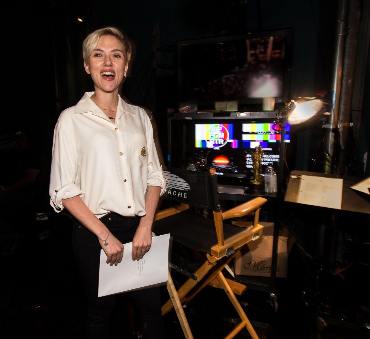 Scarlett Johansson - 2015 Academy Awards Rehearsal in Hollywood