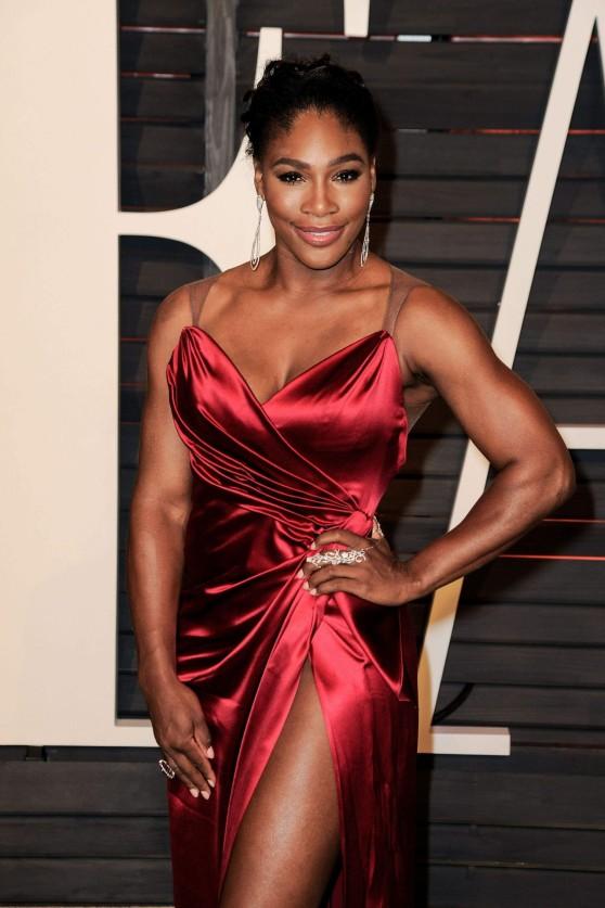 Serena Williams 2015 Vanity Fair Oscar Party In Hollywood