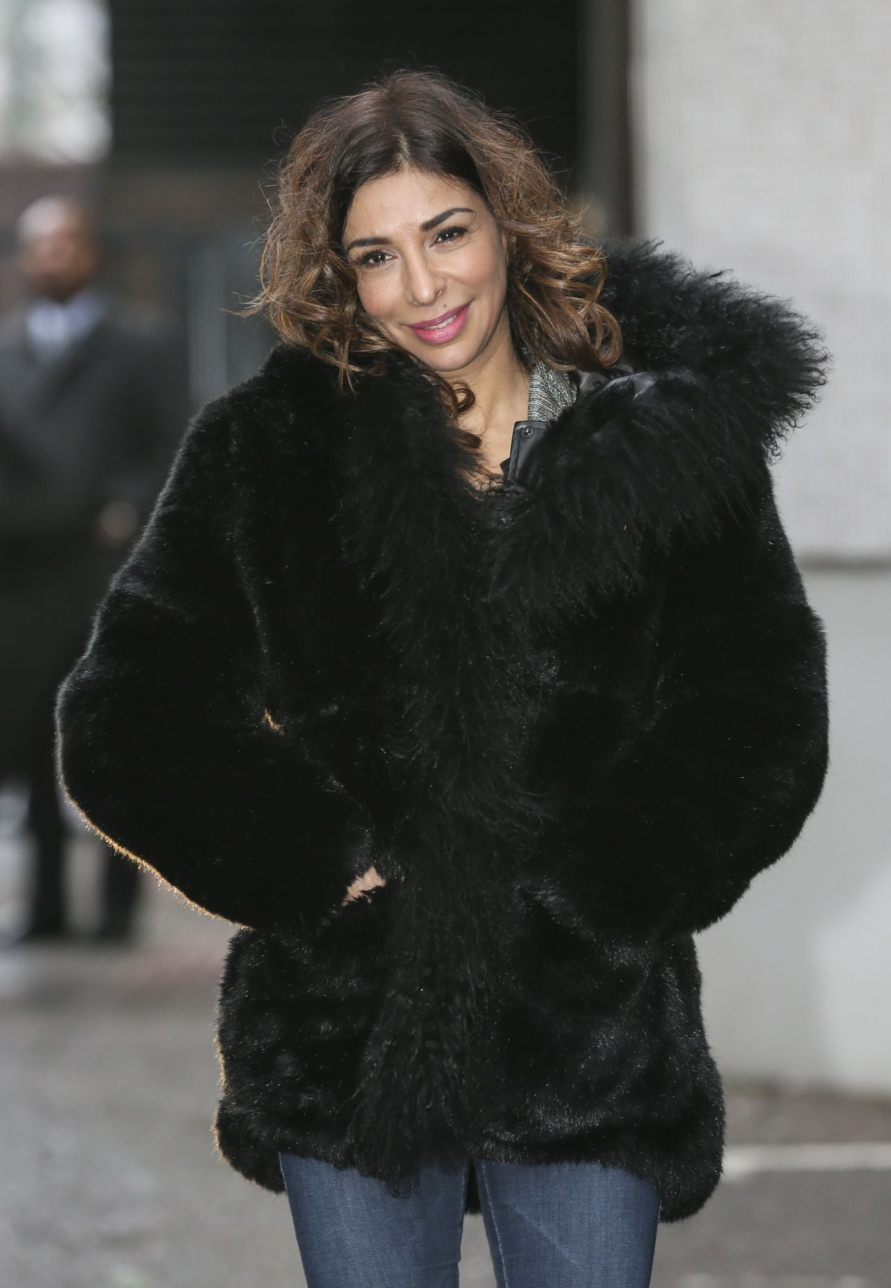 Shobna Gulati Street Style - Leaving the ITV Studios in London, February 2015
