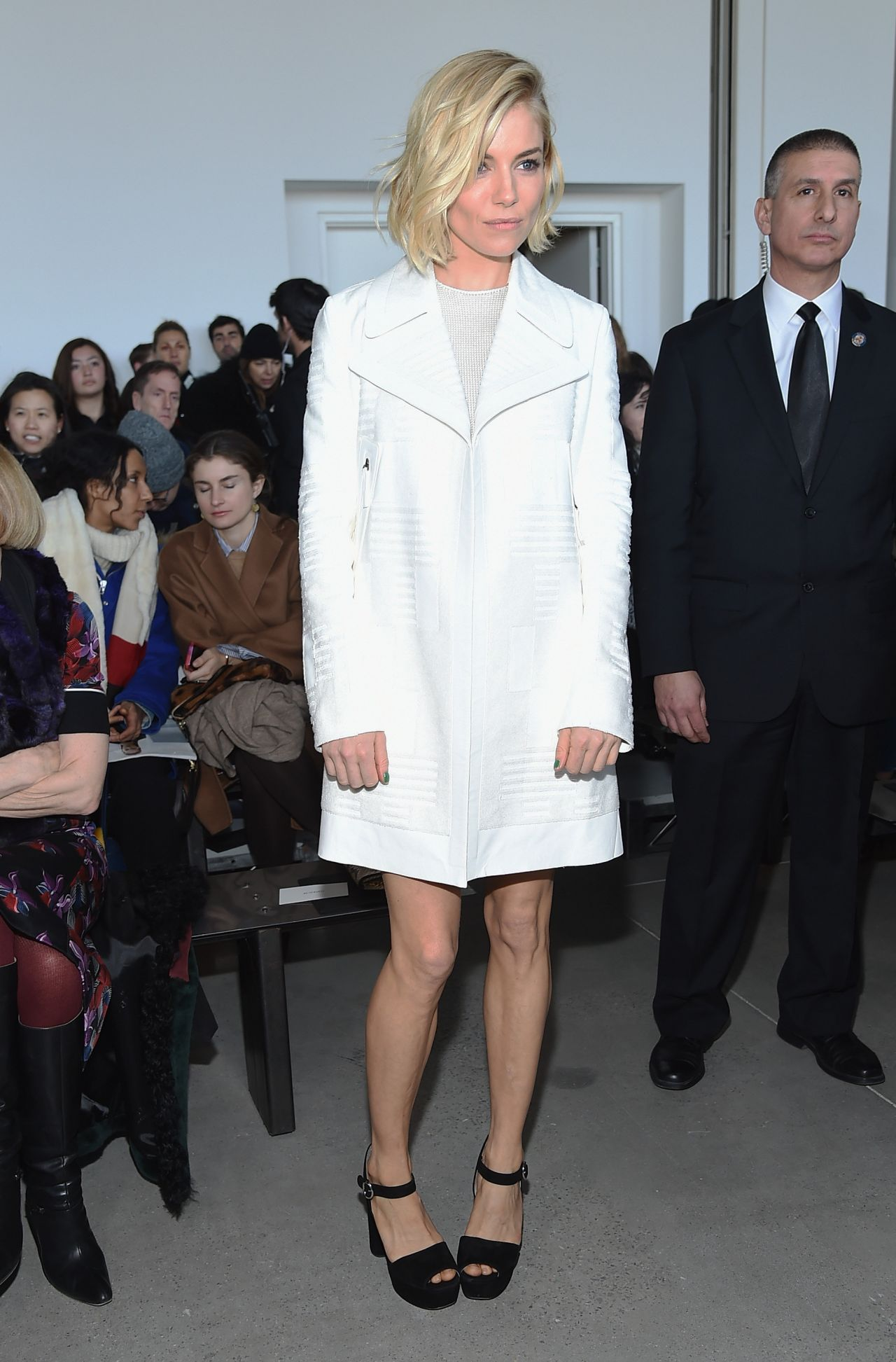 Sienna Miller - Calvin Klein Fashion Show in New York City, February 2015