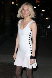 Sienna Miller Style - Arriving at the David Letterman Show in New York, Feb. 2015