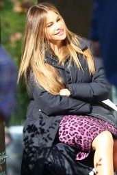 Sofia Vergara Resting Her Feet - Taking a Break on the
