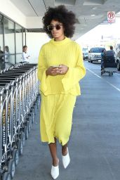 Solange Knowles - Arriving at LA airport in Los Angeles, February 2015