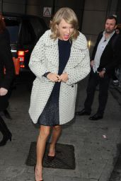 Taylor Swift at BBC Radio 1 Studios in London, February 2015