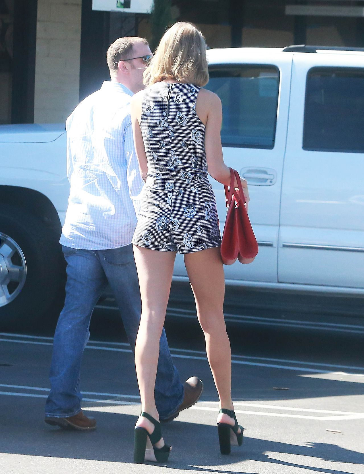 Taylor Swift Shows Off Her Legs - Out in Agoura Hills, February 2015