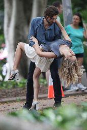 Teresa Palmer - on the Set of