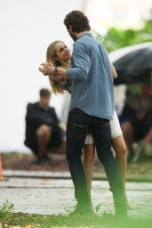 Teresa Palmer - on the Set of