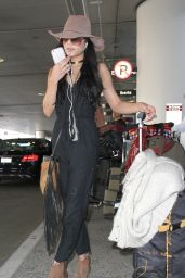 Vanessa Hudgens Casual Style - at LAX Airport, February 2015