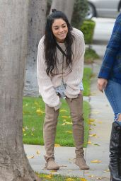 Vanessa Hudgens Street Style - Out in West Hollywood, February 2015