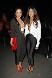 Vicky Pattison With Her Friend Farah Sattaur - Out in London, January 2015