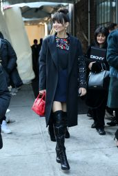 Victoria Justice Arriving the DKNY Fashion Show, Mercedes-Benz Fashion Week Fall 2015 in New York City