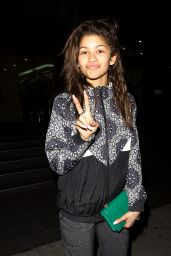 Zendaya Coleman Casual Style - at BOA Steakhouse in Los Angeles, Feb. 2015
