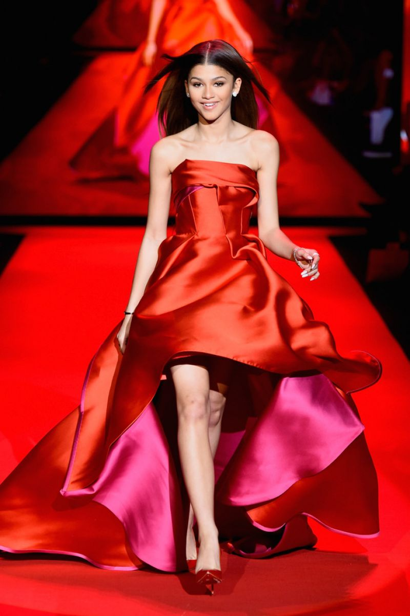 Zendaya Coleman - Go Red For Women Red Dress Collection 2015 in New York City