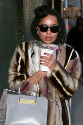 Zoë Kravitz Style - Out in New York City, February 2015