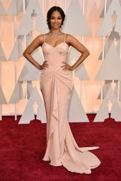 Zoe Saldana – 2015 Oscars Red Carpet in Hollywood