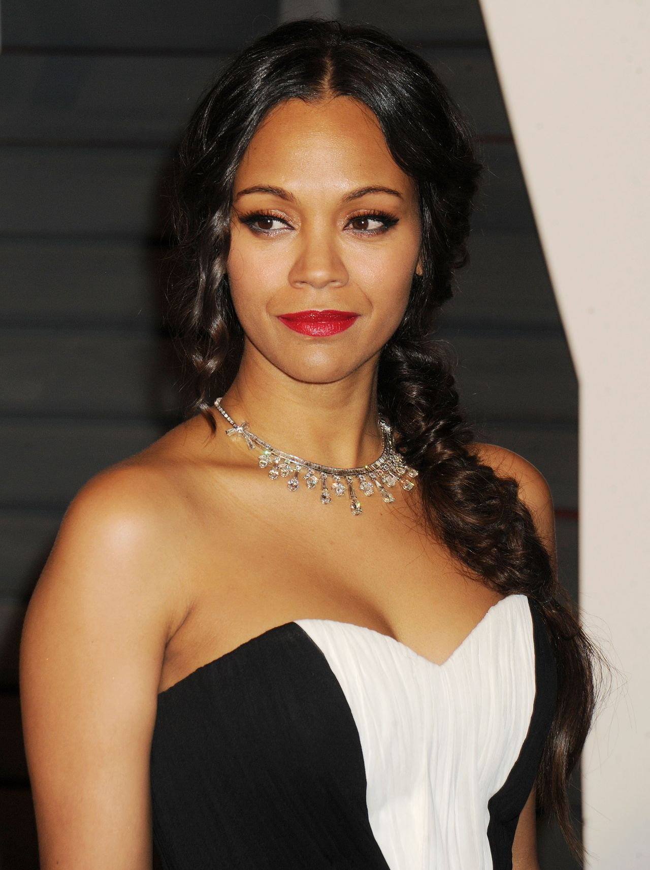 Zoe Saldana – 2015 Vanity Fair Oscar Party in Hollywood