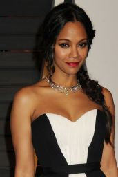 Zoe Saldana - 2015 Vanity Fair Oscar Party in Hollywood