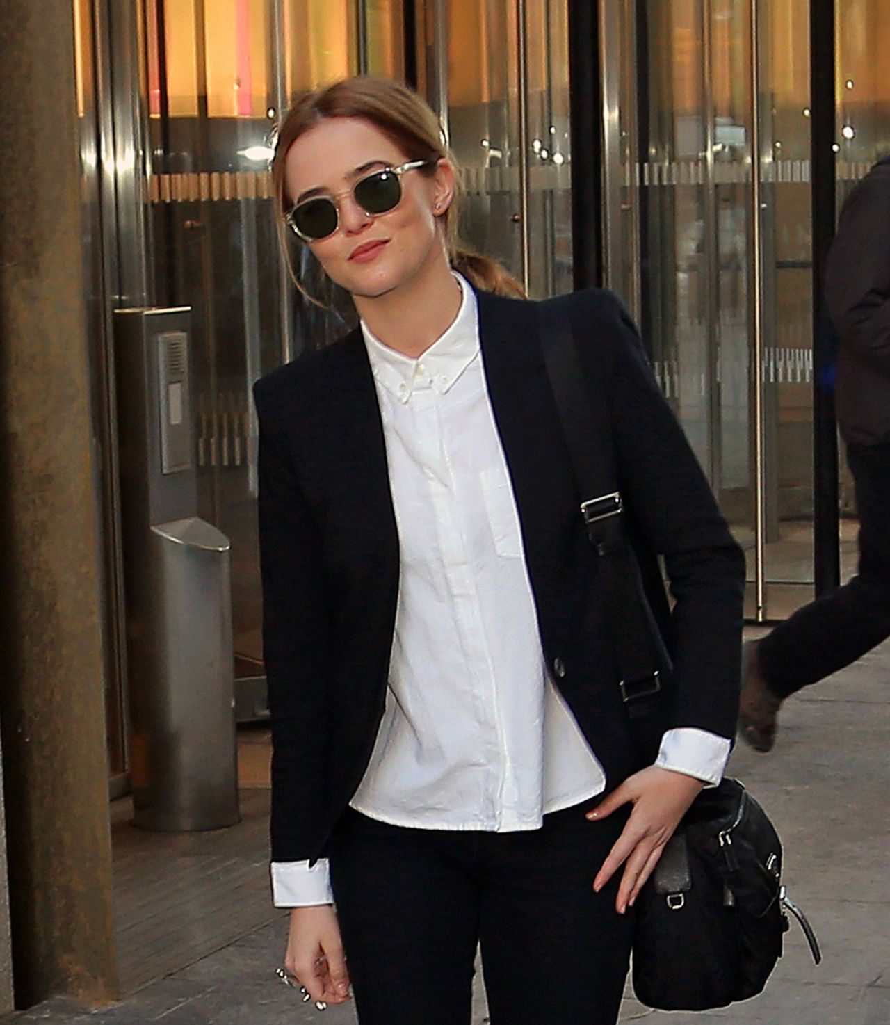 Zoey Deutch - Leaving The World Trade Center in New York City, Feb. 2015