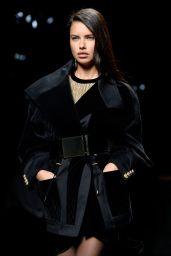 Adriana Lima - Balmain Runway Show in Paris - March 2015