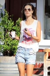 Alessandra Ambrosio out in Brentwood, March 2015