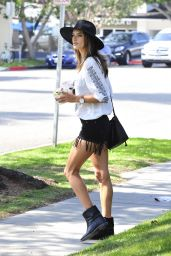 Alessandra Ambrosio Street Fashion - Out in Brentwood, March 2015