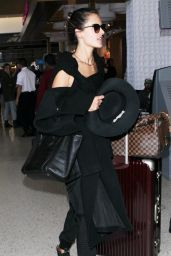 Alessandra Ambrosio Street Style - Arrives at LAX Airport, March 2015