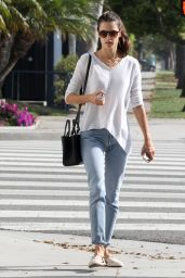 Alessandra Ambrosio Street Style - Out in Brentwood, March 2015