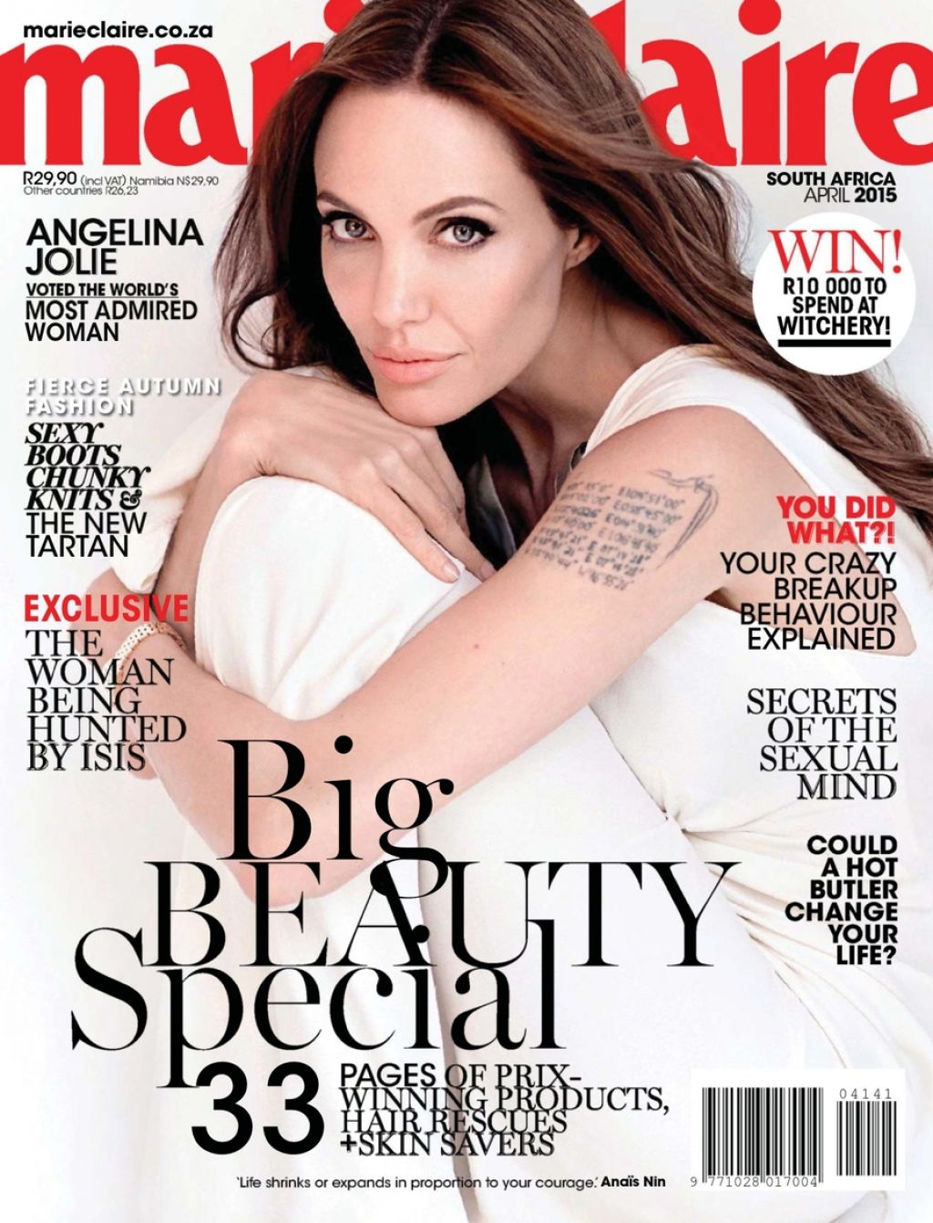 Angelina Jolie - Marie Claire Magazine (Africa) April 2015 Issue