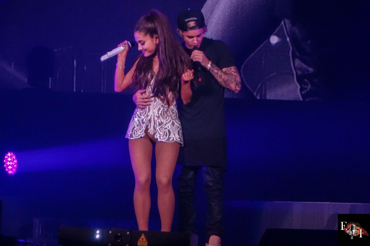 Ariana Grande Performs With Justin Bieber In Miami Honeymoon Tour