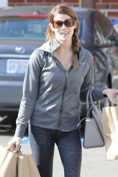Ashley Greene in Leggings - Out in Los Angeles, February 2015