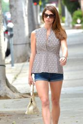 Ashley Greene Leggy in Shorts – Leaving Bellacures Manicure in Los Angeles - March 2015