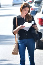 Ashley Greene Street Style - Leaving a Pet Clinic in Los Angeles, March 2015