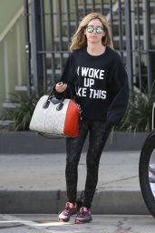 Ashley Tisdale in Tights - Leaving the Gym in West Hollywood – March 2015