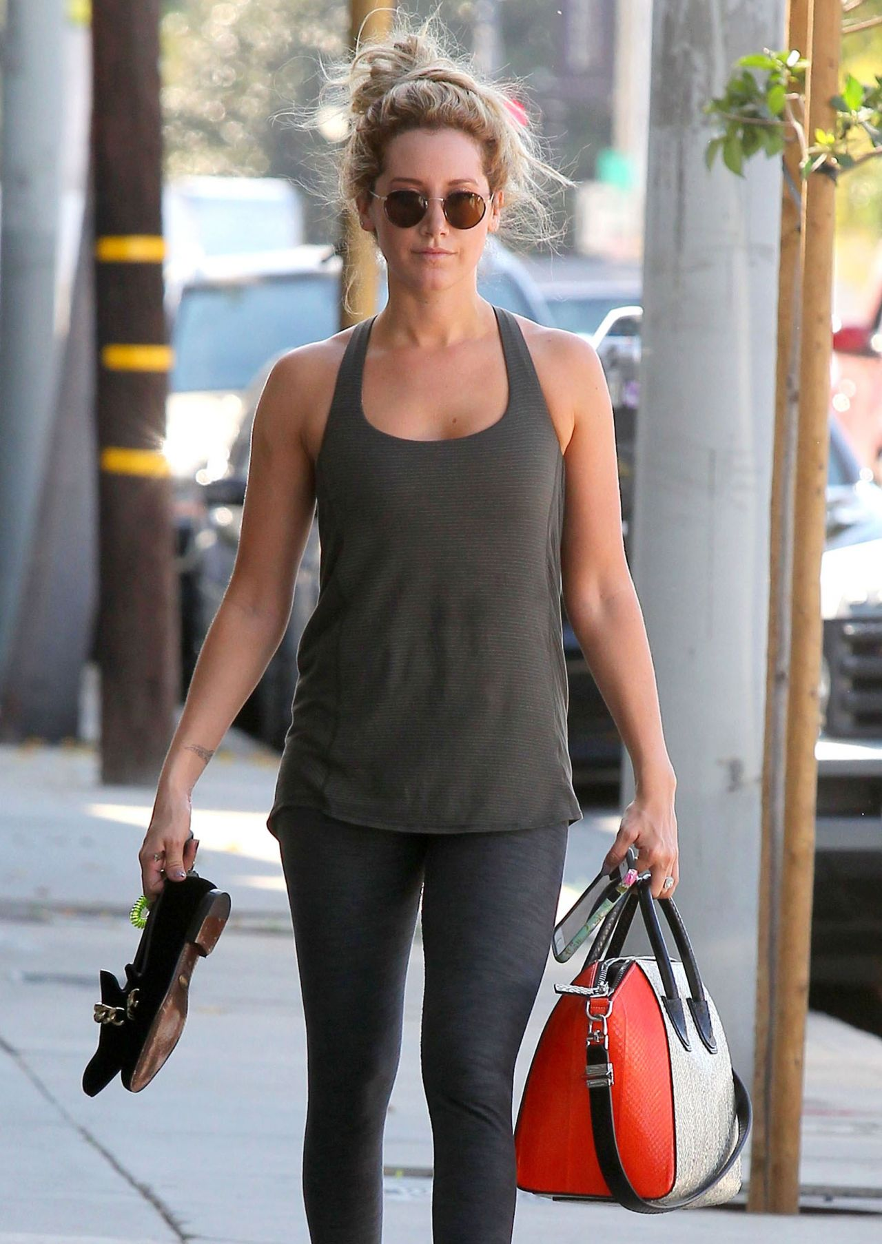 Ashley Tisdale - Leaving the Gym in West Hollywood - March 2015