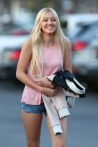 Ava Sambora in Jean Shorts Out in Calabasas, March 2015