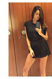 Belen Rodriguez - Selfie in Black Mini Dress - March 2015