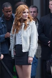 Bella Thorne - Alvin and the Chipmunks: Road Trip Set Photos - Georgia, March 2015