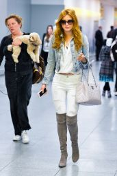 Bella Thorne - Arrives at JFK Airport in New York City, March 2015