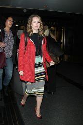 Bridgit Mendler - Leaving Rockefeller Center in NYC, March 2015