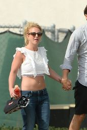 Britney Spears Casual Style - at Her Son