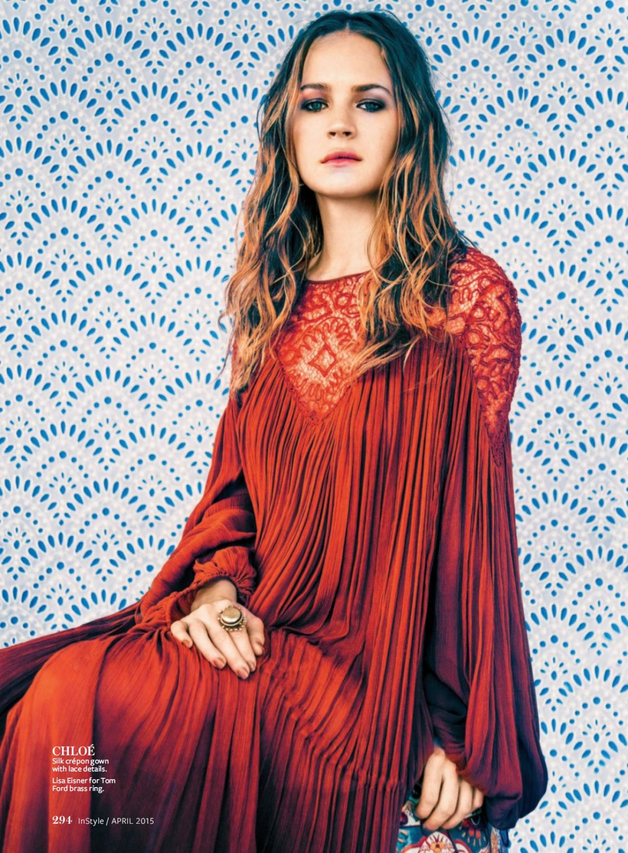 Britt Robertson - InStyle Magazine April 2015 Issue