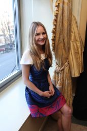 Britt Robertson - The Longest Ride Press Conference in New York City