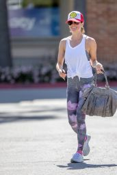 Brooke Burke in Leggings - Out in Malibu, March 2015
