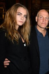 Cara Delevingne at Stella McCartney Show in Paris, March 2015