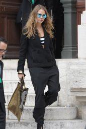 Cara Delevingne Leaving Stella McCartney Show in Paris, March 2015