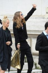 Cara Delevingne Leaving Stella McCartney Show in Paris, March 2015